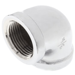 """3/4"""" Chrome Plated Bronze 90° Elbow (Lead Free) Product Image"""