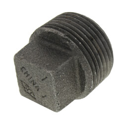 """1"""" Black Plug Product Image"""