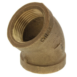"""1"""" FIP 45° Brass Elbow (Lead Free) Product Image"""