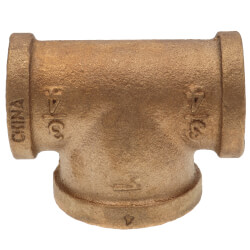"3/4"" x 3/4"" x 1"" Bull Head Brass Tee (Lead Free) Product Image"