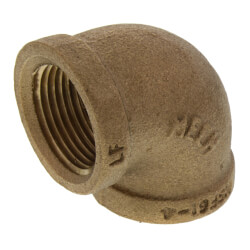 """3/4"""" FIP Brass 90° Elbow (Lead Free) Product Image"""