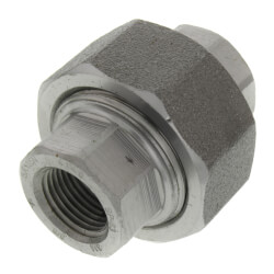 """3/8"""" 3000# A105N Carbon Steel Union (NPT) Product Image"""