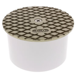 """4"""" PVC Inside Pipe Fit Cleanout with 4-1/2"""" Nickel Bronze Round Cover Product Image"""