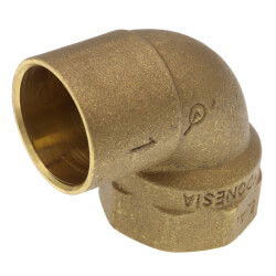 """1"""" C x F  Cast Brass 90° Elbow (Lead Free) Product Image"""