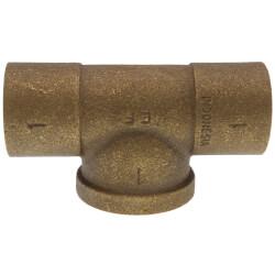 "1"" C x C x F Cast Brass Tee (Lead Free) Product Image"