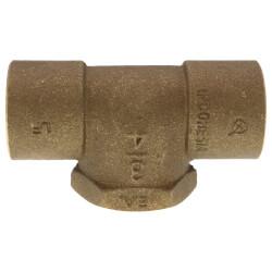 "3/4"" C x C x F Cast Brass Tee (Lead Free) Product Image"