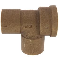 "1"" C x F x C Cast Brass Tee (Lead Free) Product Image"