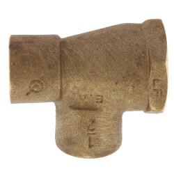 "1/2"" C x F x C Cast Brass Tee (Lead Free) Product Image"