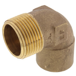 """1"""" C x M Cast Brass 90° Elbow (Lead Free) Product Image"""