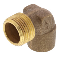 """3/4"""" C x M Cast Brass 90° Elbow (Lead Free) Product Image"""