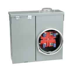 QO Outdoor Overhead/Underground Ring-Type Main Breaker, 4 Jaw Meter Socket 120/240V (100A) Product Image