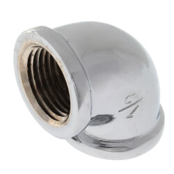 """1/2"""" Chrome Brass <br>90° Elbow (Lead Free) Product Image"""