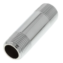 "3/8"" x 2"" Chrome Brass Nipple (Lead Free) Product Image"