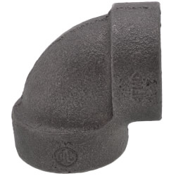 """1/2"""" Black Cast Iron<br>Steam 90° Elbow Product Image"""