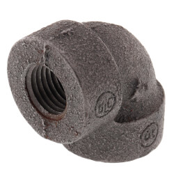 """1/4"""" Black Cast Iron<br>Steam 90° Elbow Product Image"""