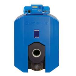 119,000 BTU Output Cast Iron Oil Boiler w/ Burner - Chimney Vent Product Image