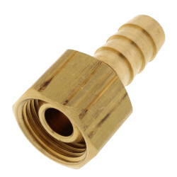 """3/8"""" Hose Barb x 3/8 Female Pipe Brass Swivel Adapter Product Image"""