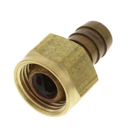 """1/2"""" Hose Barb x 1/2 Female Pipe Brass Swivel Adapter Product Image"""