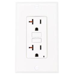Self-test SmartlockPro Slim GFCI Duplex Receptacle , 20A - White (125V) Product Image
