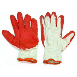 """Red """"Painted Palm"""" Work Gloves (One size fits all) Product Image"""