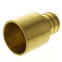 """3/4"""" PEX x 3/4"""" Copper Pipe Brass Adapter<br>(Lead Free) Product Image"""