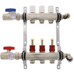 3-Loop Stainless Steel Radiant Heat Manifold Product Image