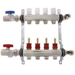 4-Loop Stainless Steel Radiant Heat Manifold Product Image