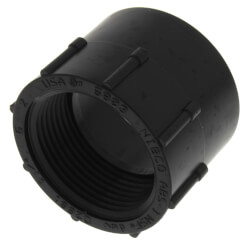 """1-1/4"""" Hub x FIPT ABS DWV Female Adapter Product Image"""