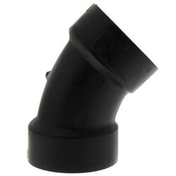 """1-1/4"""" H x H ABS<br>45° Elbow (5806) Product Image"""