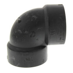 """1-1/4"""" Hub ABS DWV 90° Elbow Product Image"""