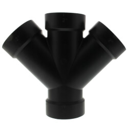 """2"""" H x H x H ABS 45° Double Wye (5834) Product Image"""