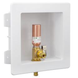 "1/2"" PEX Crimp Ice Machine Outlet Box w/ Water Hammer Arrestor Product Image"