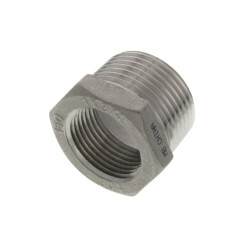 """T304 1"""" x 3/4"""" Stainless Steel Hex Bushing Product Image"""