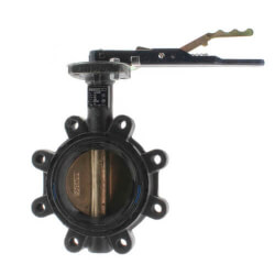 """2.5"""" Lug Cast Iron Butterfly Valve, EPDM, Lever Handle (200 PSI) Product Image"""