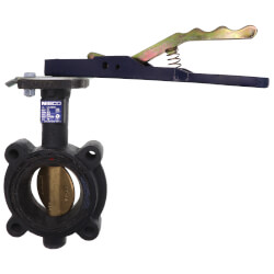 """3"""" Lug Cast Iron Butterfly Valve, EPDM, Lever Handle (200 PSI) Product Image"""
