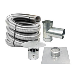 """30' x 5"""" Stainless Steel Single Wall Chimney Lining Kit Product Image"""