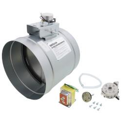 "10"" Motorized Universal Make-Up Air Damper with Pressure Sensor Kit Product Image"