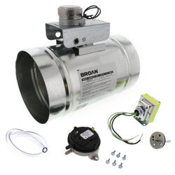 "6"" Automatic Make-Up Air Damper w/ Pressure Sensor Kit Product Image"