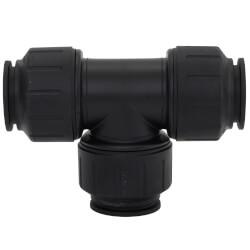 "PEI0236E PEX Union<br>Tee, 1"" CTS, Black Product Image"