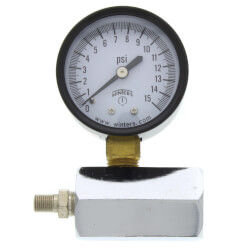 "2"" PET Economy Gas Test Pressure Gauge (0-15 PSI) Product Image"