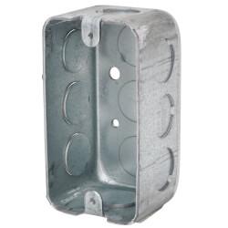 """4"""" L x 2-1/8"""" W x 1-7/8"""" D Galvanized Steel Utility Box w/ 1/2"""" Knockout Product Image"""