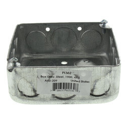 """4"""" L x 4"""" W x 1-1/2"""" D Galvanized Steel Utility Box w/ 3/4"""" and 1/2"""" Knockouts  Product Image"""