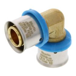"""1/2"""" PEX Press 90° Elbow w/ Attached Sleeve (Lead Free) Product Image"""