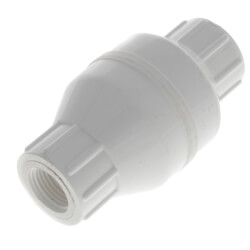 """1/2"""" PVC In-Line Check Valve w/ SS Spring (Threaded) Product Image"""