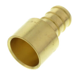 """1/2"""" PEX x 1/2"""" Female Sweat Copper Pipe DZR Brass Adapter (Lead Free) Product Image"""