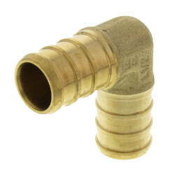 """1/2"""" PEX Brass 90 Elbow (Lead Free) Product Image"""