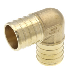 "1"" PEX DZR Brass 90 Elbow (Lead Free) Product Image"