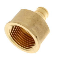 """1/2"""" PEX x 3/4"""" NPT Brass Female Adapter<br>(Lead Free) Product Image"""