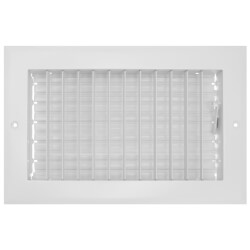 """10"""" x 6"""" (Wall Opening Size) Sidewall/Ceiling Register, Adjustable (White) Product Image"""