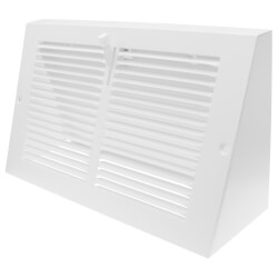 """10"""" x 6"""" Baseboard Register, 1/3"""" Series 1 (White) Product Image"""
